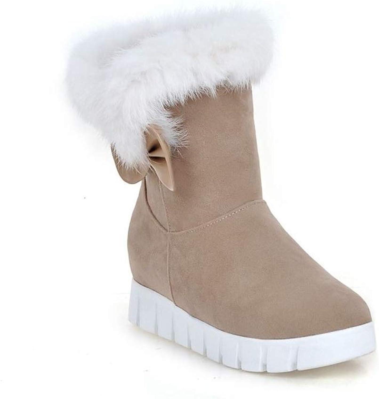 Edv0d2v266 Women Fashion Booties Plus Velvet Warm Snow Boots Winter Snow Warm Fur Boots