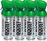 ossigeno puro in bombole – naturale, 40 l di ossigeno puro al 95%, flaconi trasportabili in confezione da 8 x 5 litri con più di 800 inalazioni.