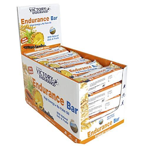 Victory Endurance Barrita Endurance Tropical, enérgetica, natural y sin aceite de palma (25x85 g) 46% de avena