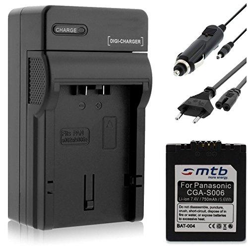 Batería + Cargador para Panasonic CGA-S006 / Lumix DMC-FZ7 FZ8 FZ18 FZ28 FZ30 FZ38 FZ50. / Leica V-Lux 1