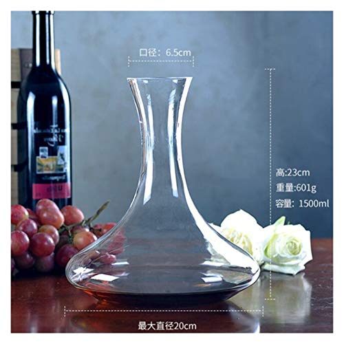 Story 1500ml Big Decanter Hecho a Mano Cristal de Vino Rojo Brandy Champagne Glasses Decanter Bottle Jug Pourer Aireator Ajuste para la Barra de la Familia (Color : GB 14)