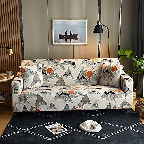 ASCV Funda de sofá con Estampado de Cuadros Antipolvo Funda de sofá Lisa de algodón Fundas de Muebles con Todo Incluido Funda seccional en Forma de L A8 4 plazas