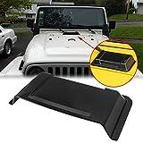 Xotic Tech Black Cowl Hood Vent Scoop Cover Air Vent Accessories for Jeep Wrangler JK TJ 1998-2018
