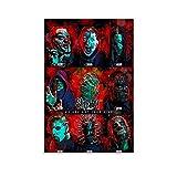 GSSL Musikposter Sänger Heavy Metal Art Slipknot 2 Poster