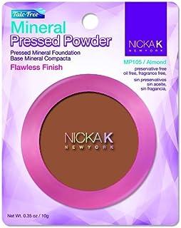 NICKA K New York Mineral Pressed Powder 0.35oz, MP105 Almond