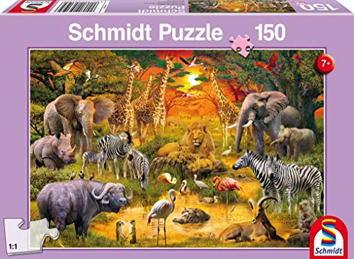 Schmidt Spiele 56195 Tiere in Afrika Puzzles, 150 Teile