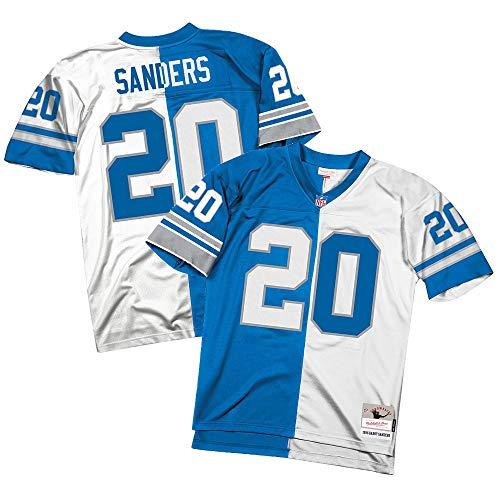 Mitchell & Ness Barry Sanders Detroit Lions Split Home & Away Jersey (Medium)