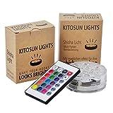 Kitosun Shisha Effekt LED Licht 3aaa batteriebetrieben 7CM RGB Multicolors Wasserdichte LED leuchtet...