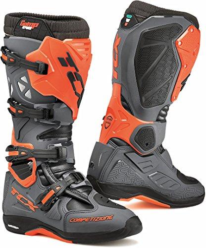 9662 - TCX Comp Evo 2 Michelin Motocross Boots 45 Dark Grey Orange Fluo (UK 10)