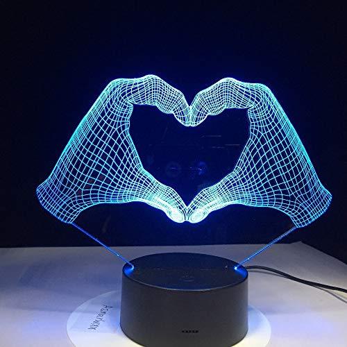 Novedad Cámara 3D Luz LED Batería Energía Luz táctil 7 Cambio de Color USB Mesa Luz Nocturna Decoración de cabecera Transporte Nave 3 Sin Controlador