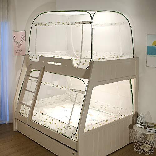 LM-BBQ Moskitonetz im Etagenbett für Kinder mit quadratischem Baldachin Mongolische Jurte Fliegenmücken Insektenschutz Moskitonetz mit 3 Öffnungen, ohne Chemikalien(Ohne Bett)