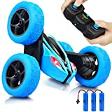 RC Cars Remote Control Stunt Car - 2.4GHz 360 Degree Off-Road Double Sided Rotating Tumbling High Speed Rock Crawler Vehicle with Headlights and 3 Batteries to Get 60mins Running for Kids/Children