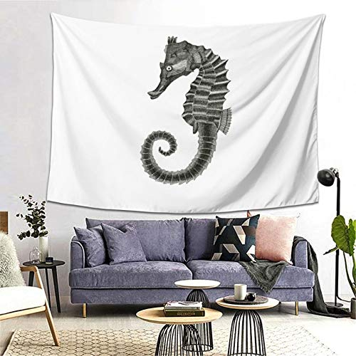 Seahorse Tapestry Art Tapestry Handicraft Party Decoration Banner Garland Event Banner and Home Decoration