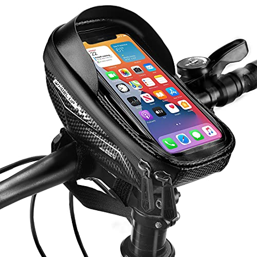 NIVEOLI Borsa Telaio Bici Portacellulare per Bicicletta, Porta Telefono per Bici Borsello Impermeabile da Corsa con Touch Screen, Accessori MTB Compatibile con IPhone/Samsung/Xiaomi sotto 6.5''