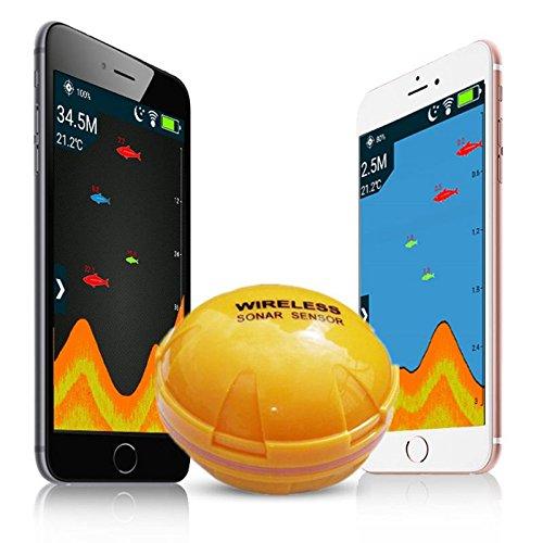 Cikuso buscador de Peces telefono movil Buscador de pez de Sonar inalambrico Deteccion de pez de Lago mar de Profundidad iOS Android App Encontrar Peces ecosonda de Eco de Sonar Inteligente