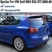 BEESCLOVER Unpainted Primer Black FRP Fiberglass Trunk Roof Spoiler Wing for Volkswagen for VW Golf 5 V MK5 R32 GTI 2006 2007 2008 2009 Show One Size