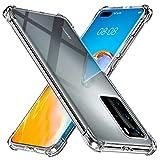 Peakally Huawei P40 Pro Case, Soft TPU Transparent