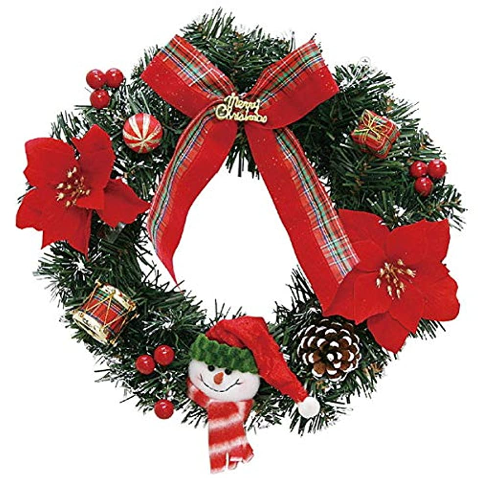 ガロン純正知り合いクリスマス装飾 デコレーションスノーマンリース 30cm 6984