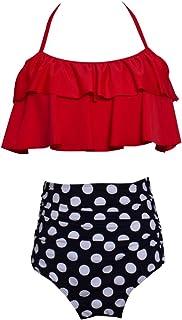 0782df00d695 JEELINBORE Costume da Bagno per Madre e Figlia, Elegante Monokini Un Pezzo  | Bikini a