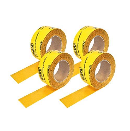 4 rotoli (60 mm x 25 m), nastro adesivo, giallo, freno a vapore, pellicola frenante vapore