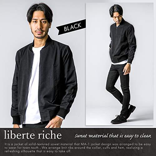 liberteriche(リベルテリッシュ)MA-1エムエーワンジャケットメンズフライトジャケットミリタリーブルゾンアウター迷彩春ブラックM