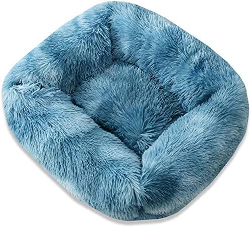 Kohza Hundebett Katzenbett Waschbar, Kuscheliges Hundebett Hundekissen Hundesofa Rutschfestes Hundebett kann für Welpe Kleine Mittleren Hunde und Katze (55 x 45 x 20cm, Blau)