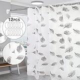 YifKoKo Duschvorhang,Duschvorhang Anti-Schimmel Duschvorhang 180x200 cm Waschbar Antibakteriell Duschvorhang mit 12 Duschvorhängeringen