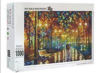 雨の中を歩くジグソーパズル1000個-大人のレジャーエンターテインメントジグソーパズル-子供の教育玩具パズル