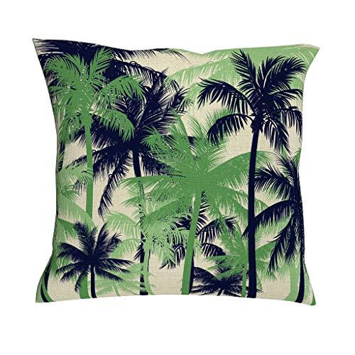 Kissenbezug Kokosnuss Baum Tropisch Pflanzen Leinen Kissenhülle Dekor Für Kissen Wurfkissen Zierkissenbezug Auto Schlafzimmer