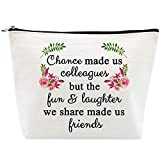 Retirement Gifts for Women Leaving Gifts for Colleagues Best Friends Coworkers Boss Nurse Teachers Retirees Work BFF Bestie Funny Birthday Retired Chance Made us Colleagues Makeup Bag