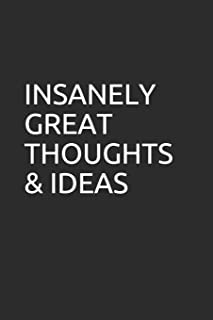 INSANELY GREAT THOUGHTS & IDEAS: Blank lined notebook/journal makes the perfect gift for coworkers and bosses.