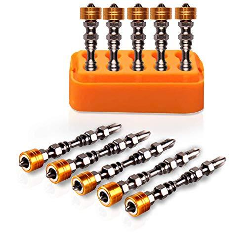 Ybricoll - Confezione da 10 punte magnetiche per avvitare, doppia estremità, per avvitatore, trapano, cacciavite senza fili, cartongesso, tasselli, viti