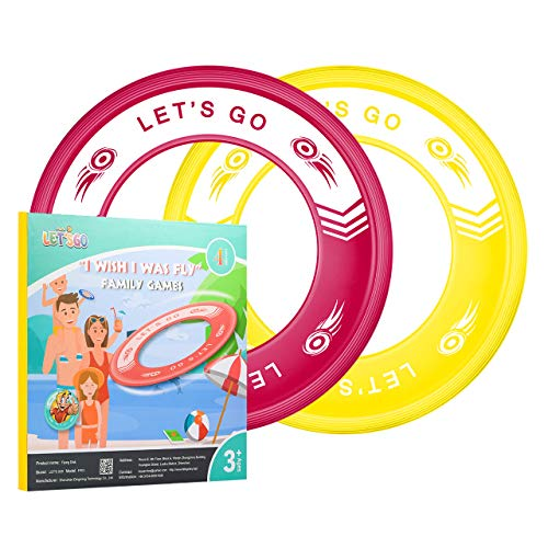 Dreamingbox Boy Toys Age 312 Flying Rings for Kids Easy Throw amp Catch Beach Toys for Kids 312 Christmas Xmas Gifts for Girls 312 Years Old Stocking Fillers Red/Yellow TGFP03