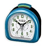 Casio TQ148/2 Travel Alarm Clock-Metallic Blue/White, One Size