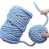 Core Yarn, Hot Manual DIY Gift Manta hecha a mano Gigante Redonda Línea gruesa Hilo de tejer para el brazo de tejer, Crochet Fieltro, Confección de alfombras de sofá Manta y manualidades (azul, 1KG)