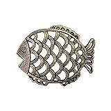 Leikance - Almohadillas de aislamiento de hierro fundido vintage, diseño de salvamanteles