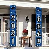 Dazonge Class of 2021 & Congrats Grad Banner for Graduation Party Supplies - 2021 Graduation Decorations Blue - Graduation Banner for Indoor Outdoor Grad Ceremony
