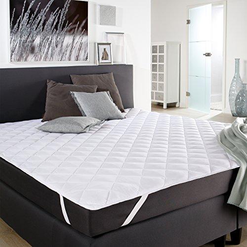 DILUMA Microfaser Matratzen-Auflage 180 x 200 cm Matratzen-Schoner Matratze Unterbett Auflage Topper bei 60 °C maschinenwaschbar