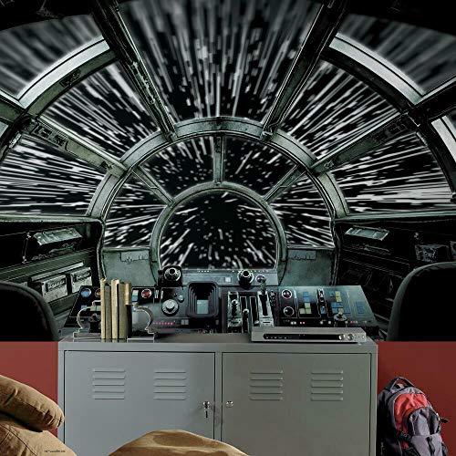 RoomMates RMK11458M Star Wars Millennium Falcon Peel and Stick Wallpaper Mural - 10.5 ft. x 6 ft.