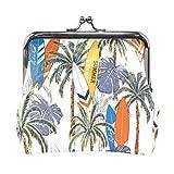 Bolso de piel con cierre de hebilla para mujer, diseño de árbol de palmera