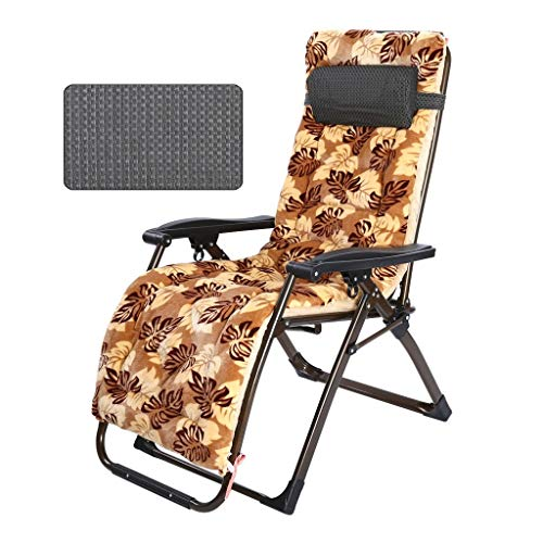 Gravity stoel Klapstoel Recliners met kussen Thicken toevoegen Cotton Lunch Break Casual Siesta zwangere vrouwen for Huishoudelijk Kantoor Balkon Beach Camping lounge chair (Color : B)