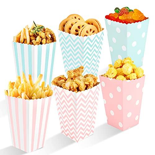 Siumir Scatole di Popcorn 48 PCS Caramella Contenitore per la Festa di Compleanno di Film Fiesta...