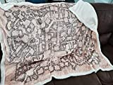DND Dungeon Map Blanket Sherpa Fleece Vintage D&D Themed Blanket 60x48 Inches Great Gaming Gift for DM, Dungeons and Dragons, Pathfinder and Tabletop RPG Player