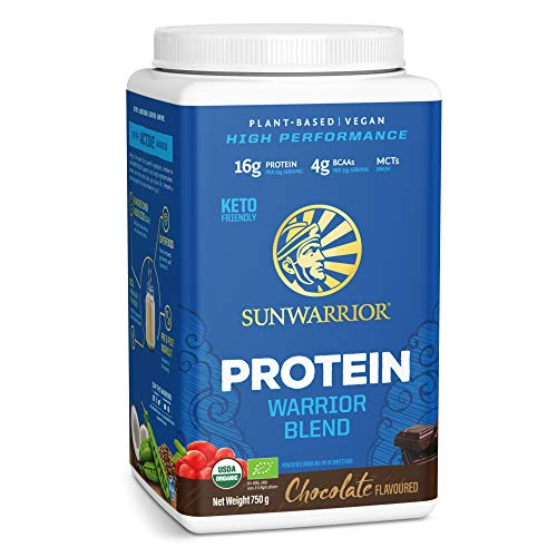Sunwarrior Warrior Blend - Organic Vegan Plant Protein Powder with BCAAs and Pea Protein - Dairy Free, Gluten Free, Soy Free, Non- GMO, Plant Based Protein Powder, Sugar Free and Keto Friendly from Sunwarrior