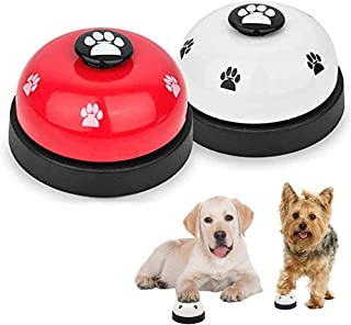 SlowTon Pet Doorbells, 2 Pack Metal Bell Dog Training with Non Skid Rubber Bottoms Puppy Door Bell for Potty Training and ...