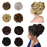 Messy Bun Hair Piece for Women, Synthetic Curly Wavy Messy Bun Hair Scrunchies for Women's Hair Bun Extensions Hair Pieces for Women (Medium Chestnut Brown)