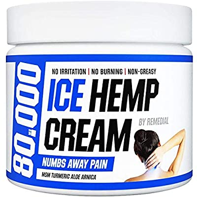 Hemp Pain Relief Cream 80 000 MG – Relieves Arthritis, Back and Muscle Pain – Foot, Knee, Joint, Fingers and Neck Inflammation Therapy – Hemp Oil Extract Remedy with MSM and Arnica – 2 fl. Oz by Remedial
