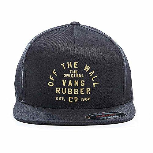 Vans Men's Stacked Rubber Hat Black Small/Medium VN0A36ZCBLK