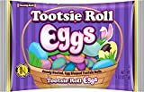 Candy Coated, Tootsie Roll Egg Shaped Candies, Perfect Easter Treats for Baskets or Hunts, 8 oz Bag