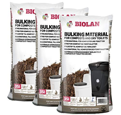 Biolan Streumaterial für Kompostierer und Trockentoiletten 35 L. Set mit 3 STK.